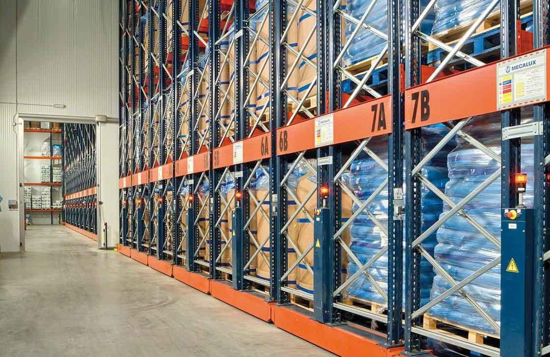 Movirack mobile shelving has increased the capacity of Iberfresco's refrigerated warehouse