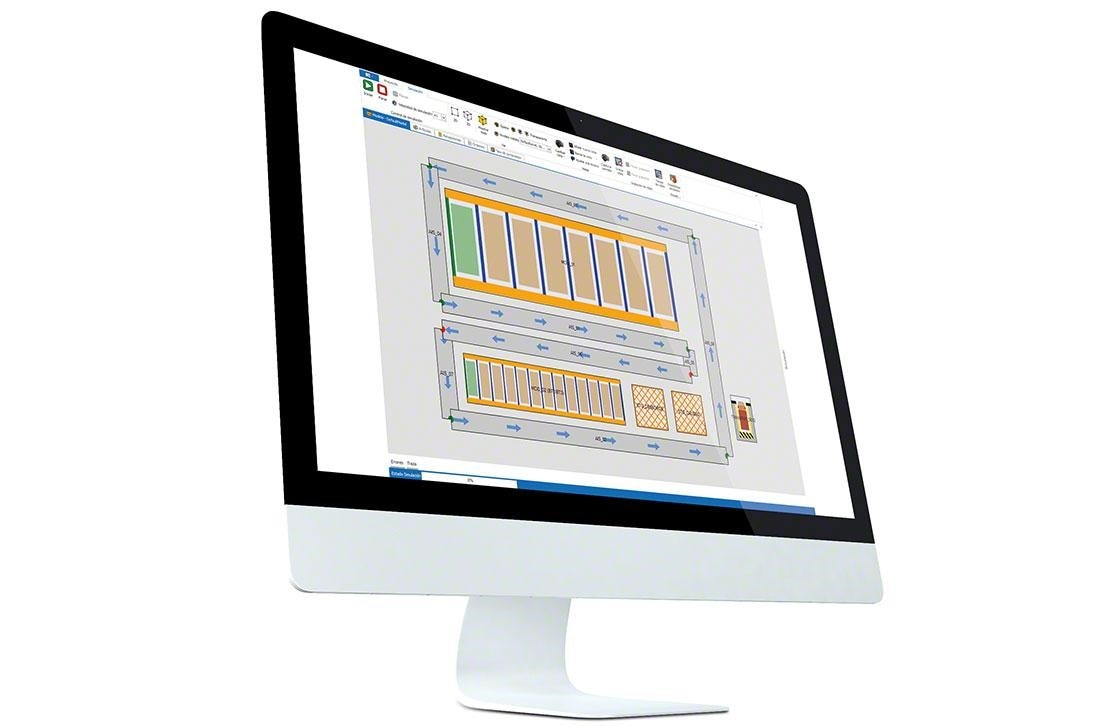 A computer where the WMS has been installed for efficient management, and thanks to which in-warehouse KPIs can be measured.
