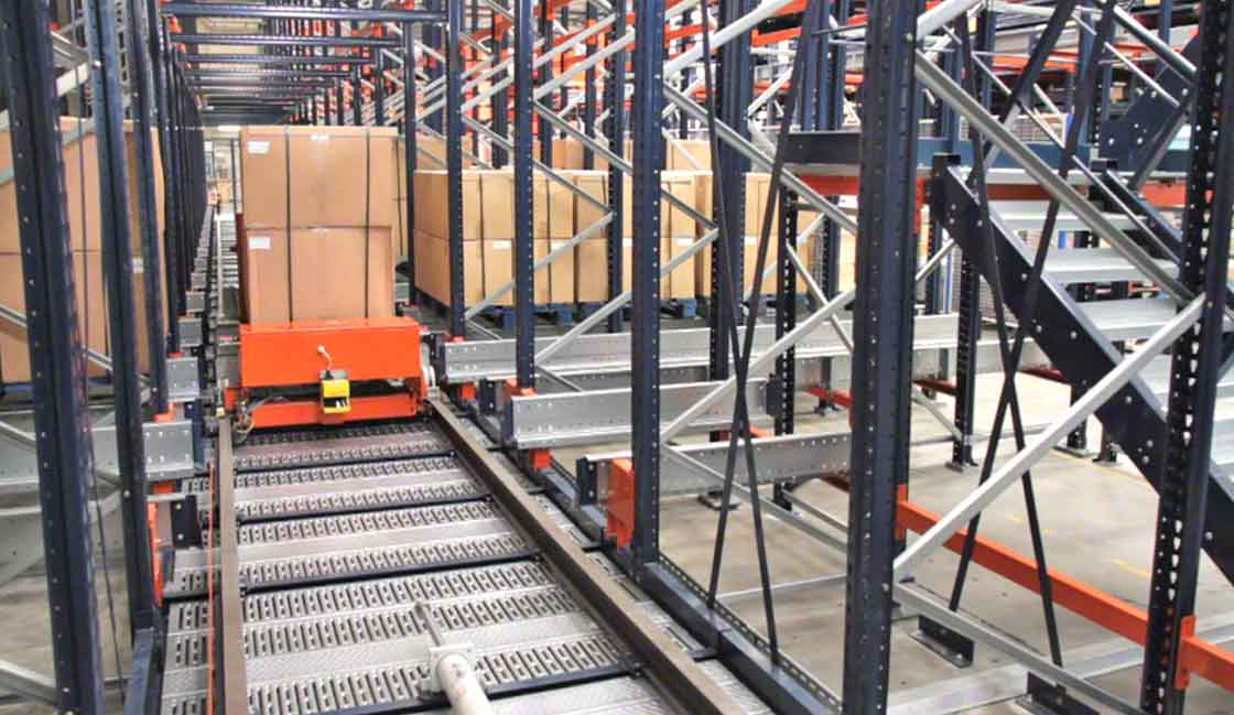 The automatic Pallet Shuttle system, an example of AI applied to logistics