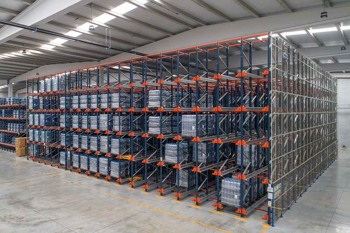 High-density racks work with FIFO (first in, first out) flows, an issue that affects warehouse slotting criteria
