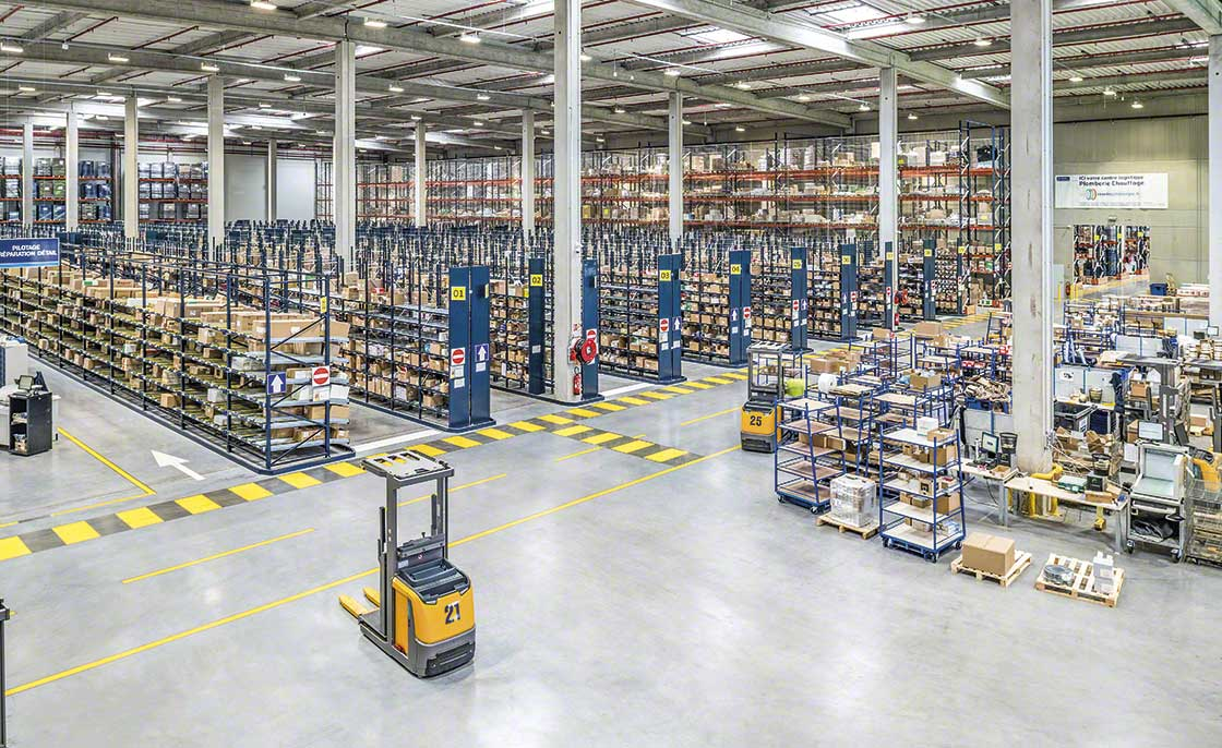 Warehouses that supply manufacturing logistics are zoned when they store extremely varied inventory