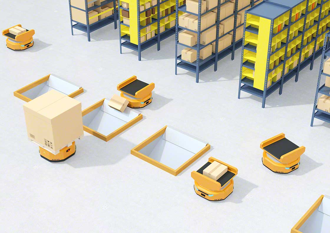 Mobile robots can perform package-sorting tasks