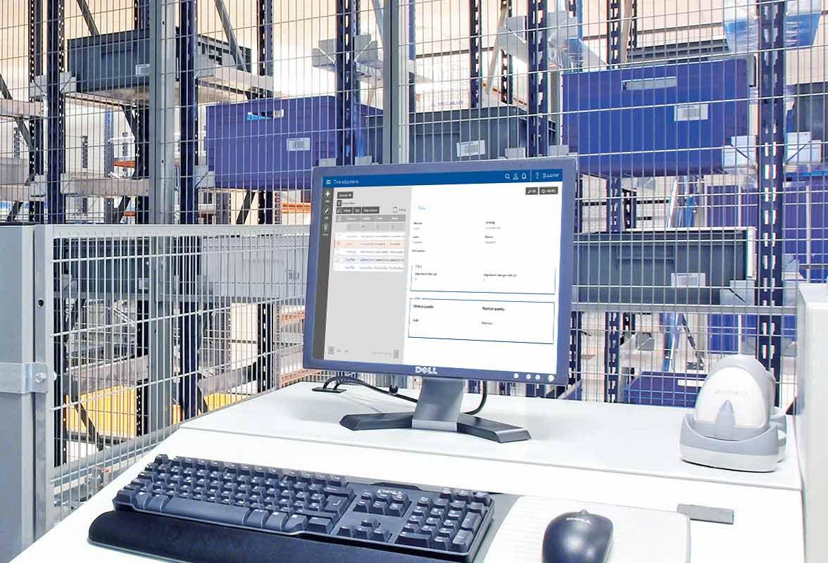 Labor Management System set up in a work station