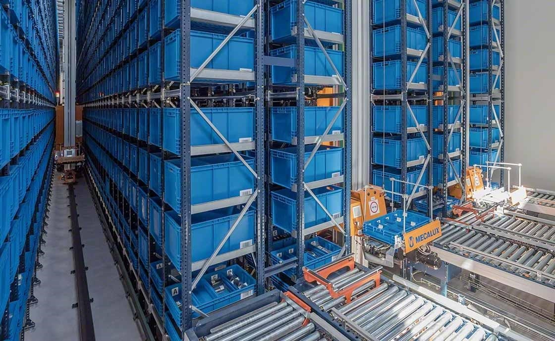 The product-person order fulfillment method uses automatic systems.