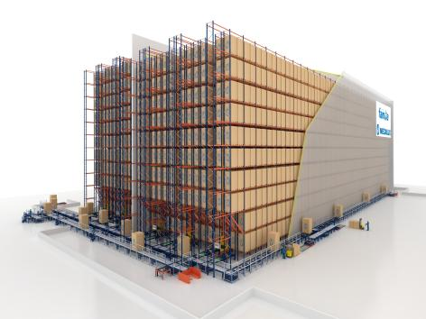 Grupo Familia warehouse can accommodate 19,000 pallets and workflows of 140 combined cycles per hour.