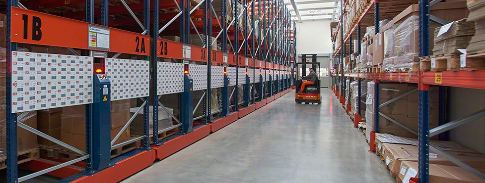 The Mobile Racking Systems leverages all the surface area to gain capacity