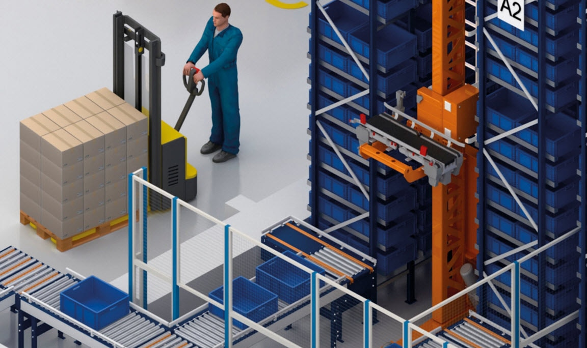 Automated warehouse for boxes at the L&D Aromatics centre in Almería