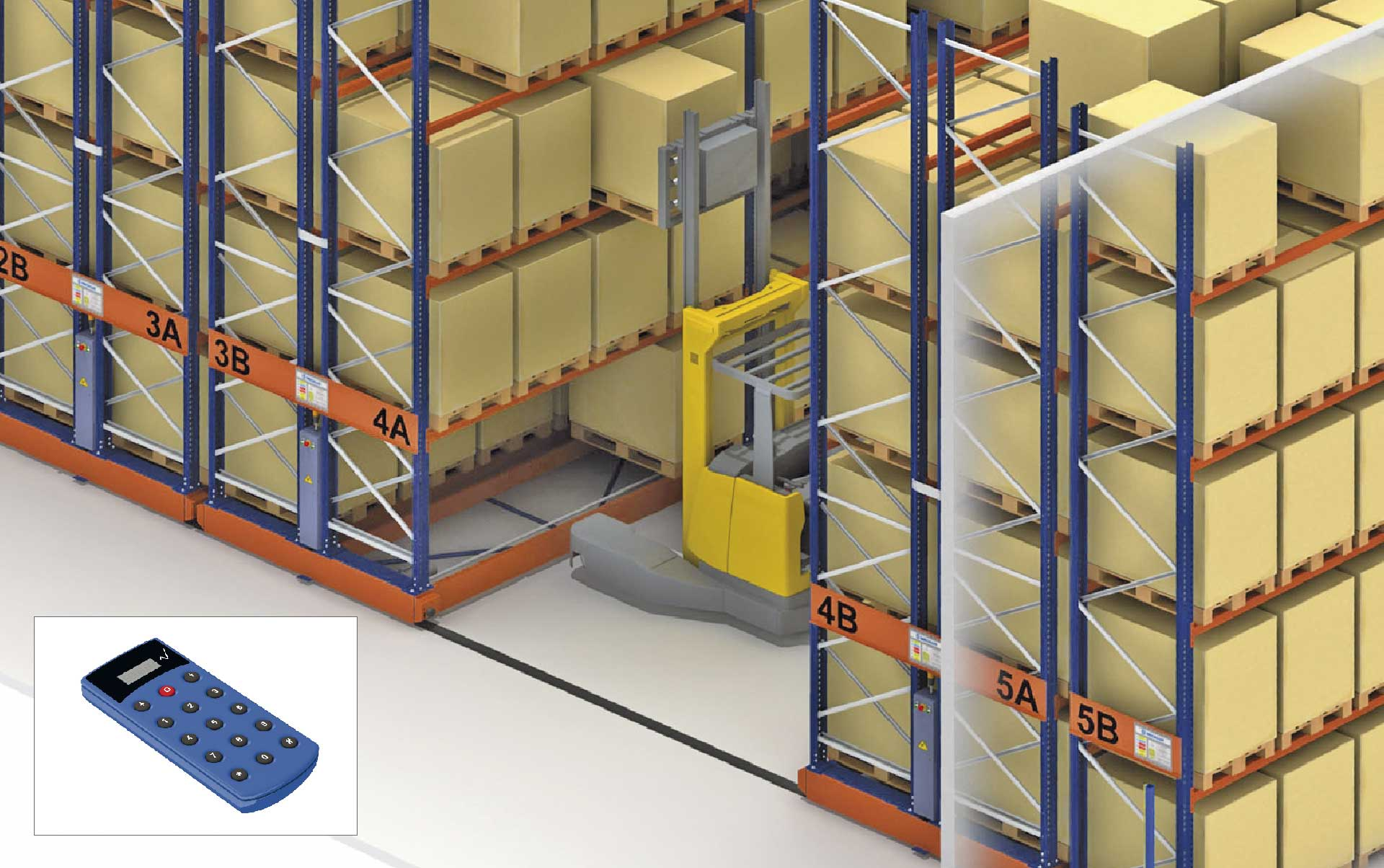 Movirack mobile racking will maximise the warehouse surface area