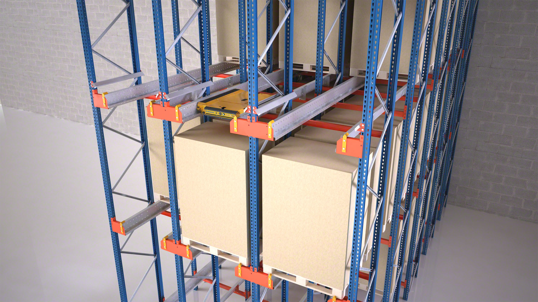 The Pallet Shuttle system allows for references to be grouped by channel