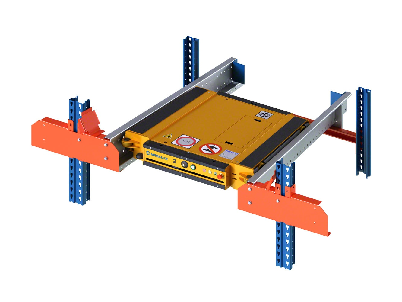 Different structural components specifically for the Pallet Shuttle system