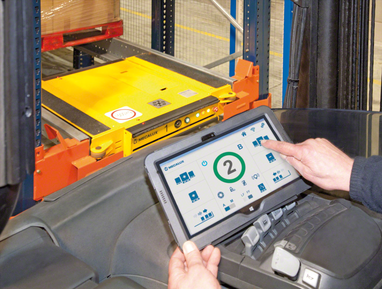 The WiFi control tablet has a very intuitive user interface