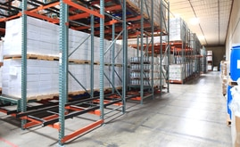 Push-back offers high-density, multiple product storage solutions that optimize all of the available space