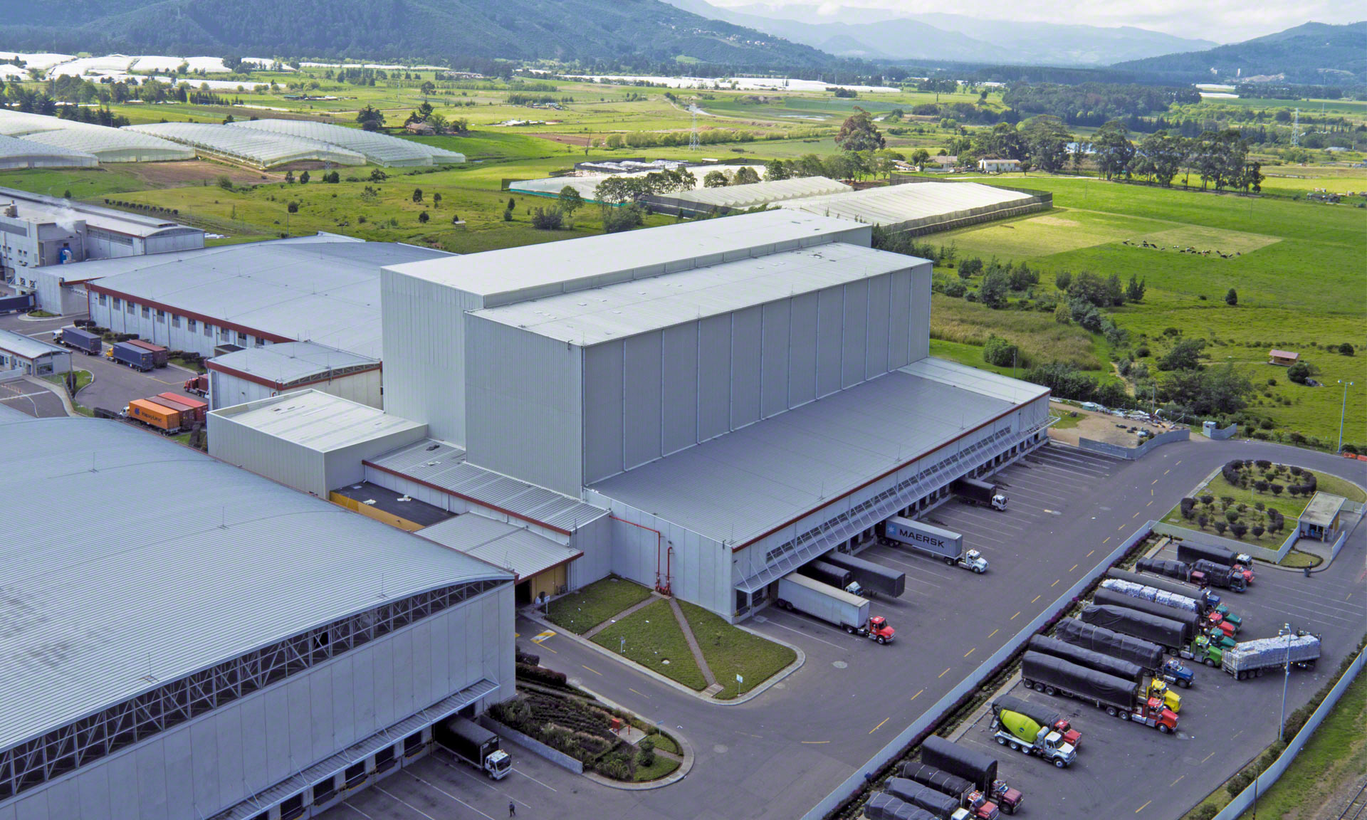 Grupo Familia has a 115' high automated clad-rack warehouse capable of handling around 17,000 pallets