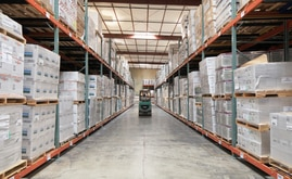 The new storage system accommodates well over 16,000 pallets, nearly double previous capacity