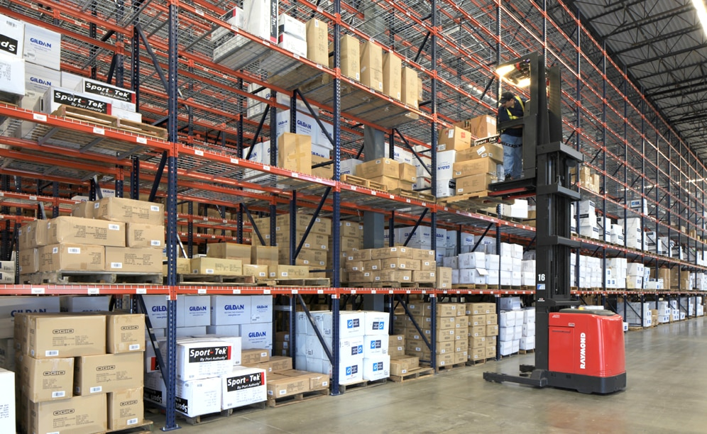 Example of high rise pallet racking for sanmar warehouse Warehouse racking layout software free
